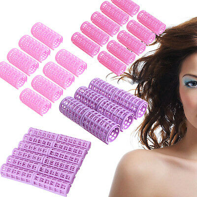 6/8/10/12x Hair Curlers Rollers Tools Soft Large Hairdressing Tool Spiral Circle
