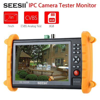 """IPC9600S 7"""" Touch Screen Analogy Video POE ONVIF IP Camera Tester Monitor 12V"""