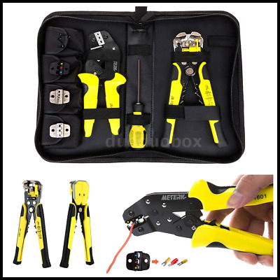 4 In 1 Wire Crimpers Ratcheting Terminal Crimping Pliers W/ Wire Stripper M5B9