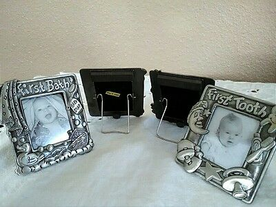 Four Small Baby's First Photo Frames with Magnets Royal Limited Silver