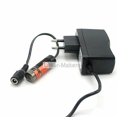 650nm 50mW Red Line Laser Diode Module Focusable w/ 5V AC Adapter 14.5x45mm