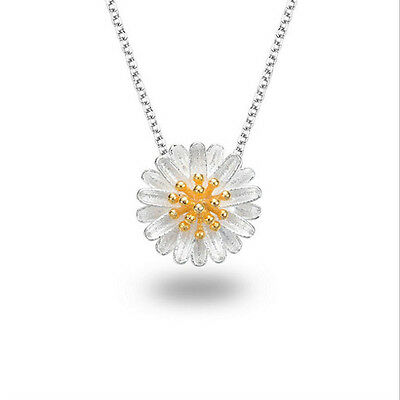 Silver Plated Flower Necklace New Necklaces Chain Daisy Pendant Clavicle Chain