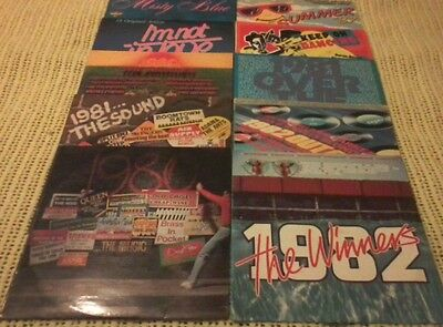 10 VINYL LP RECORDS BULK LOT VARIOUS ARTISTS 1980's ORIGINAL PRESSINGS