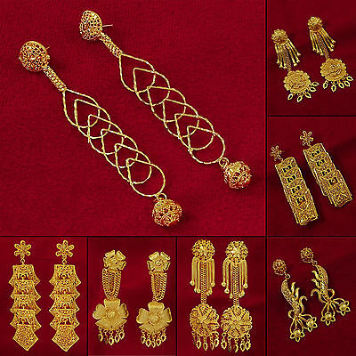 Goldplated Indian Bollywood Traditional Dangle Earring Set Jewelry BSE27A-PAR