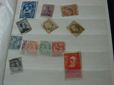 Interesting old stamps from stockbook:France, Port Said,Egypt,Saar,Austria,Italy