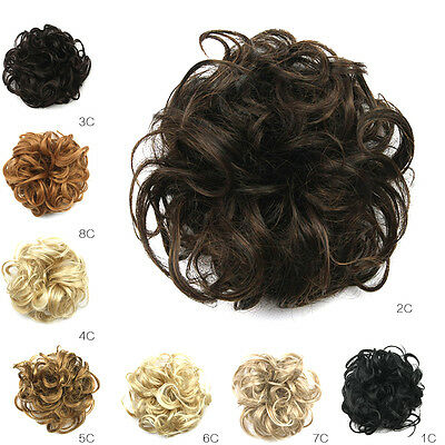Synthetic Hair Flexible Scrunchie Wrap For Wave Curly Hair Bun Piece Ponytail