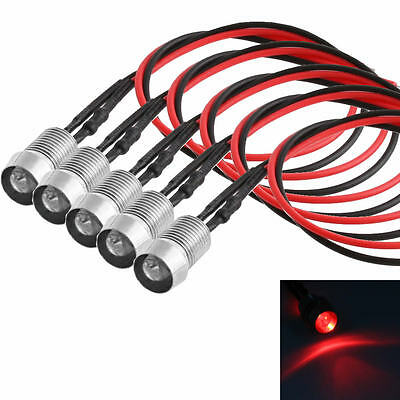 5pcs LED Red Indicator Light Lamp Pilot Dash Directional Car Motorcycle Boat 12V