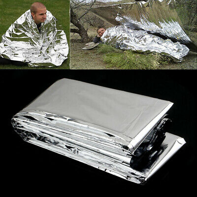 1x Outdoor Emergency Solar Blanket Survival Safety Insulating Mylar Thermal Heat