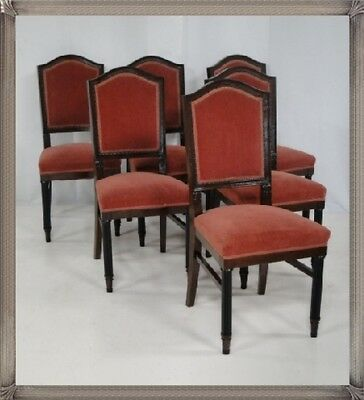ART DECO 6er Set Stühle-Polstersessel-Sessel-Stuhl-ARTDECOSESSEL!!!!!TOP,1A