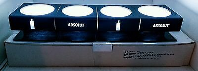 4 Bottle Absolut Vodka Led Lighted Display Glorifier Bar Man Cave Htf 750Ml 1L