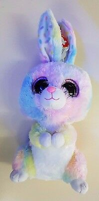 Ty Beanie Boos 37092 - Bubby The Multicolored Bunny - New - RARE - Fast Dispatch