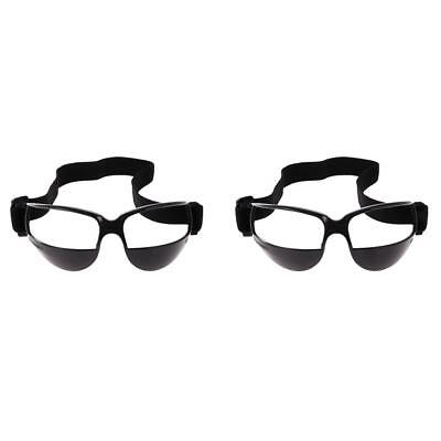Pack of 2 Basketball Goggles Dribble Dribbling Specs Training Supplies Black