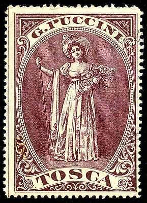 "Italy Poster Stamp - Publicity - 1900 Opera ""Tosca"" by G. Puccini"