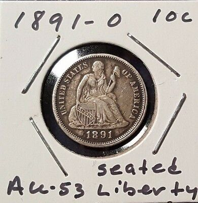 1891-O 10C Liberty Seated Dime - Beautiful About Uncirculated!