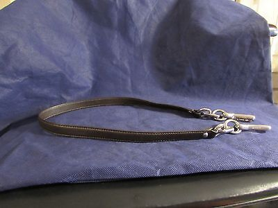 Coach shiny brown leather replacement shoulder strap silver chain