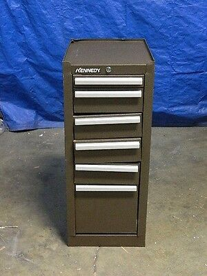 """Kennedy Tool Box Hang-On Side Cabinet 6-Drawer 33"""" x 18"""" x 13"""" Steel Brown 386XB"""