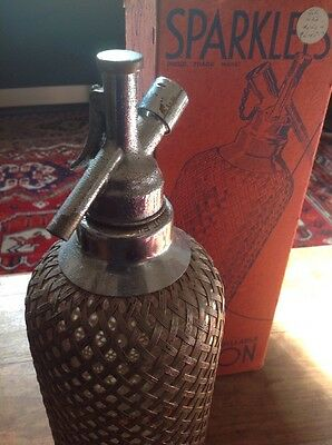 Antique Glass & Wire Soda Siphon