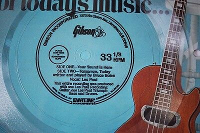 Gibson 1971 Les Paul Recording Catalogue with flexi disk