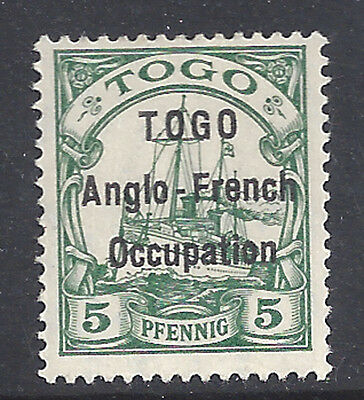 Togo Stamp 1914 5pf Anglo-French Occupation (SG#H2) Mint £130