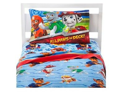 New In Package Nick Jr Paw Patrol Puppy Hero 4pc Full Bedding Sheet Set Boy Girl
