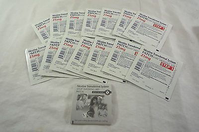 Loose GSMS Step 1 14 Clear Patches 2-Week Supply 21 mg per patch Exp Oct/2017