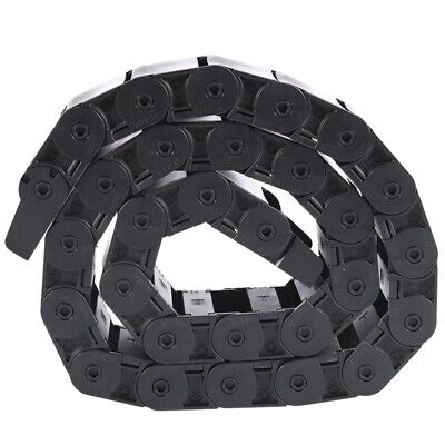 """40.55"""" Black Cable Wire Carrier Drag Chain Nested 18x50mm E1F2"""