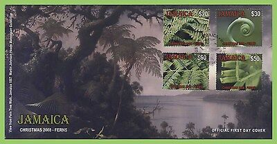 Jamaica  2008 Christmas Ferns set on First Day Cover