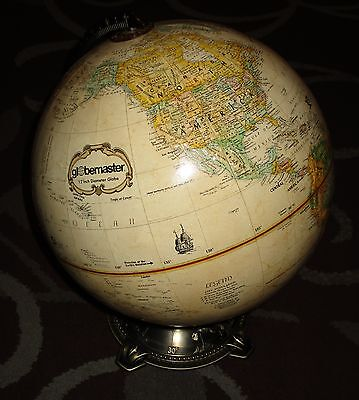 "REPLOGLE Globemaster 12"" Diameter Globe Brass w/ Longitude & Latitude Brass Base"