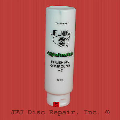 JFJ Advanced 12oz  EASY PRO White # 2 Polish Polishing Compound Solution 12 OZ