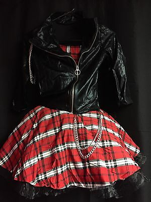 Dansco Dance Costume Red/White/Black Size Large Child NWT