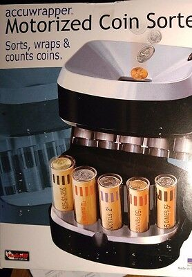 MAGNIF COIN SORTER, WRAPPER - Motorized - BONUS BAG OF WRAPPERS - NEW