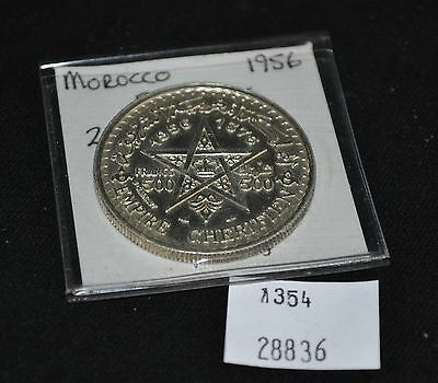 West Point Coins ~ Morocco 500 Francs 1956 Y-54 Foreign Coin