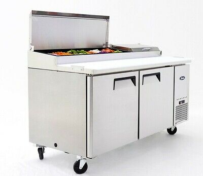 "NEW 67"" 2 Door Refrigerated Pizza Prep Table Atosa MPF8202 #2229 Commercial NSF"