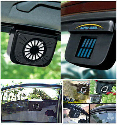 Car Auto Cooling Fan Radiator Solar Powered Air Vent Cool Cooler Useful