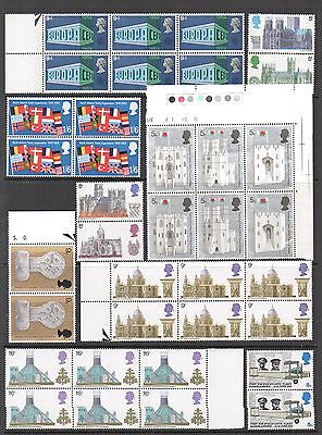 GB 1969c COMMEMORATIVE Stamp Collection Includ BLOCKS UNMOUNTED MINT Ref:QE731