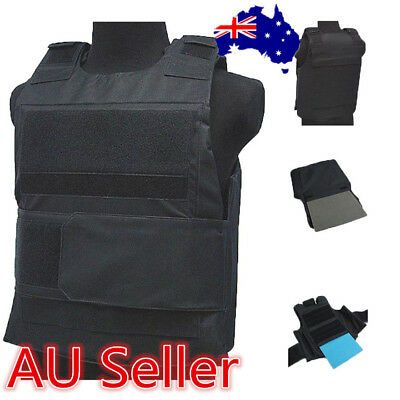 Tactical Wargame / AirSoft Paintball Bulletproof Armour Plate Stab Proof Vest ON