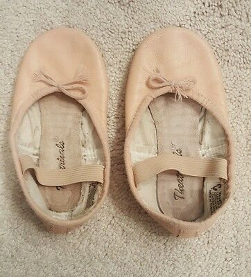 Little Girls Ballet Shoes slippers leather size 9.5M toddler