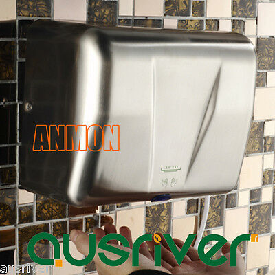 1500W Stainless Steel Automatic Hand Dryer Washroom Commercial Grade