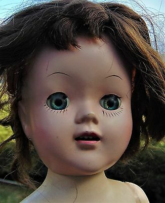 "17"" VINTAGE, HARD PLASTIC ""SUZY WALKER DOLL"" ~ UNMARKED ~ CIRCA 1950's"