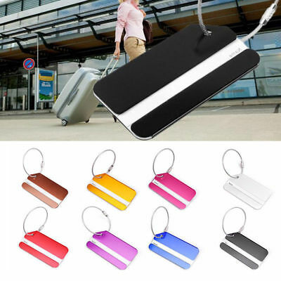 New Aluminium Luggage Tags Suitcase Label Name Address ID Bag Baggage Tag Travel