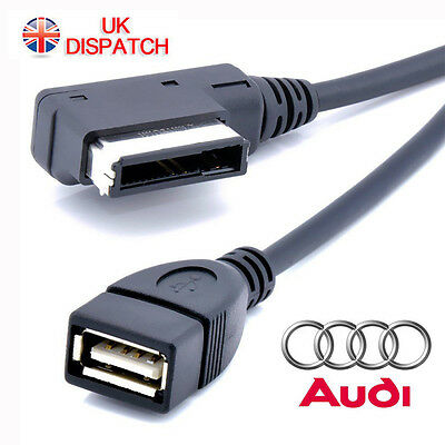 Music Interface MDI MMI AMI to USB Data Cable Sync Charging Adapter For AUDI VW