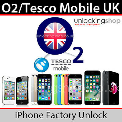 O2UK/Tesco Mobile iPhone Factory Unlock Service for Apple iPhone 4/4s/5/5c/5s/SE