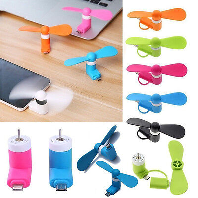 Portable Mini Micro USB Mobile Phone Fan For Android Phone Samsung LG HTC Tablet