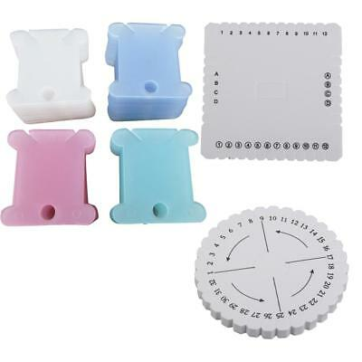 Square & Round Kumihimo Beading Cord Disk Plate with 100pcs Thread Bobbins
