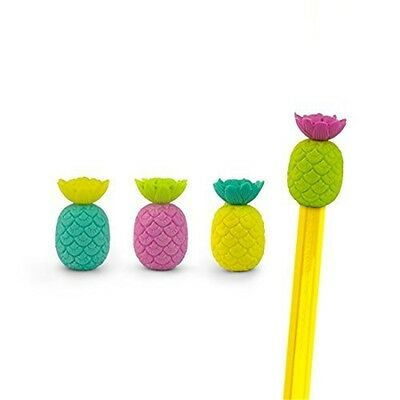 Mustard Pencil Topper Rubber Eraser - Assorted Colours Pineapple - Toppers