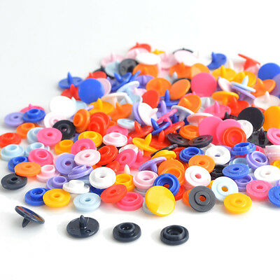 KAM Mixed Color 50 Sets T3/T5 Size 16/20 Resin Plastic Snap Fasteners Press Stud