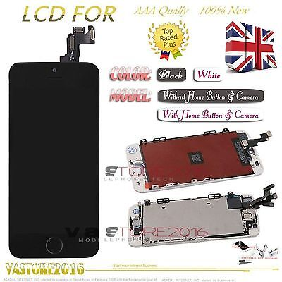 For iPhone 5S LCD Touch Screen Digitizer Home Button+ Camera+ earspeaker