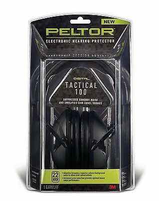 Peltor Tactical 100 Earmuffs Electronic Hearing Protector 3M - TAC100