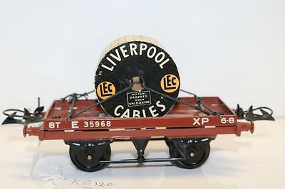 HORNBY O GAUGE  X P LIVERPOOL CABLES WAGON LOOKS  VERY  GOOD  ks120