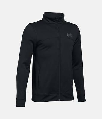 Under armour boys XL kids pennant warm up jacket sports black age 14-16 approx